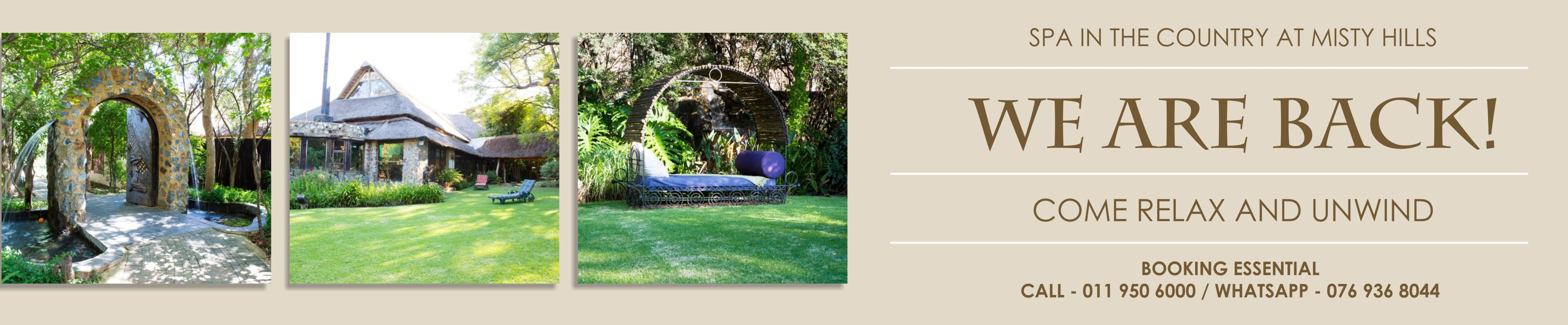 Spa in the Country Spa Treatment Packages Muldersdrifts